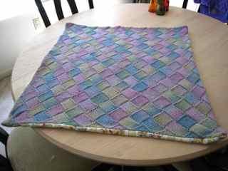 Entrelac blanket 1