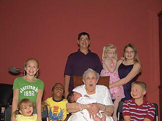 Edythe and Great Grandchildren 8-23-08