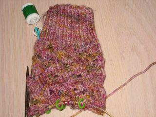 Tipsy Turvy sock in progress