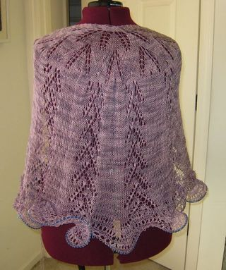 Lace shawl in progress