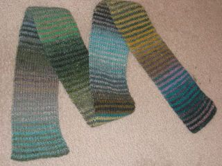 Noro striped scarf complete
