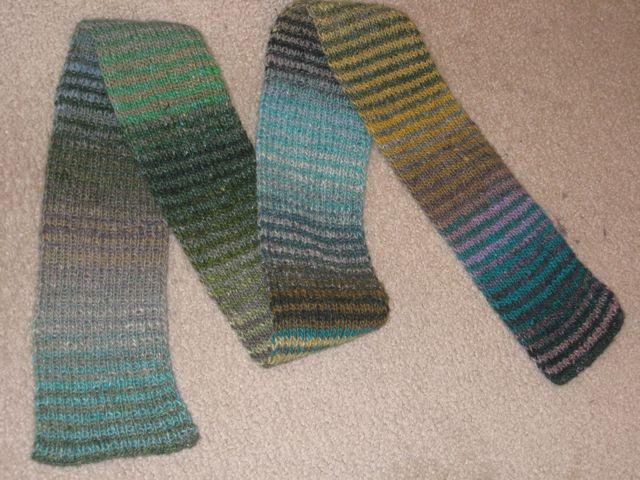 Noro striped scarf complete