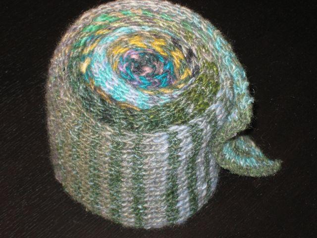 Noro striped scarf roll