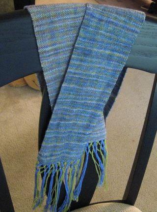 Woven Malabrigo scarf FO