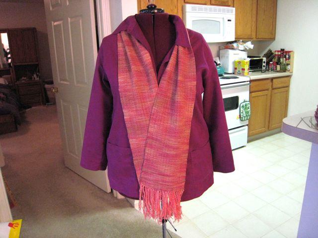 Woven orange scarf 1