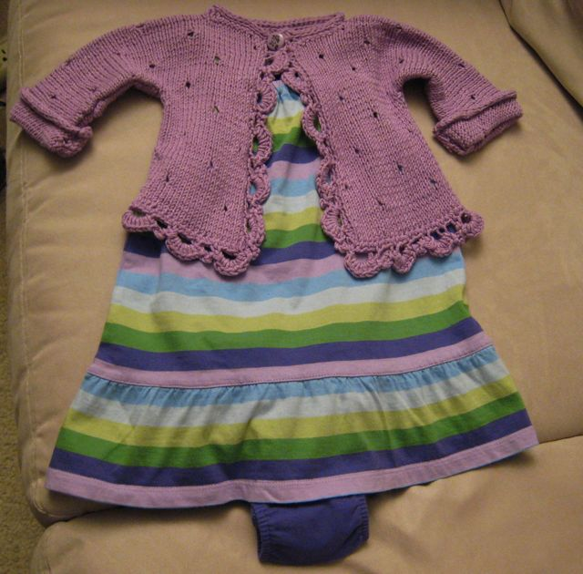Peekaboo sweater with dress
