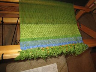 Weaving green napkin