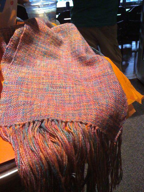Woven bamboo scarf