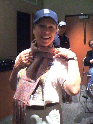 Carole in scarf