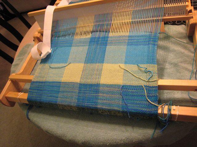 Woven baby blanket in progress