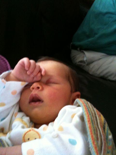 Maura at three weeks