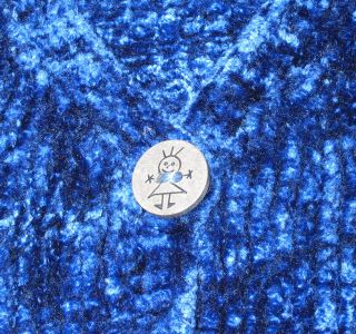 Bamboo button detail