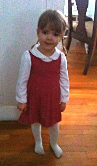 Abby in Sarahs dress
