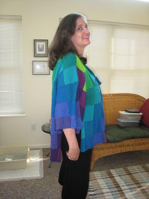 Rainbow sweater finished 1