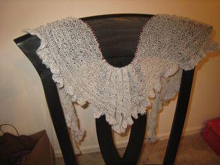 Ruffled shawl