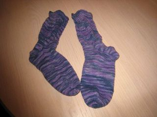 Purple Santa Fe Socks