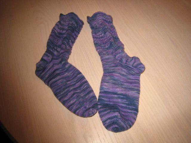 Purple Santa Fe Socks