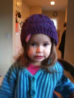 Purple Hat for Maura