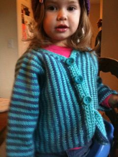 Maura's striped sweater